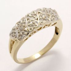 14 kt Yellow Gold 0.25 ct Diamond Ring  ,  Size: 7