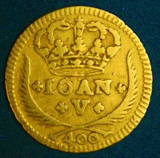 Portugal – Pinto in Gold – 1728 – João V – Lisbon – Above Average