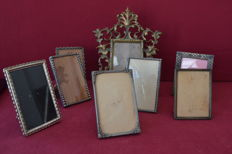 Lot of frames - silver , bronze , silver plate and brass - Portugal ca.1940