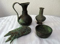 Bronze pieces from the Middle East - 25 mm / 100 mm (4)