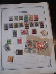 World 1886/1930 - Stamp collection including SAAR and Eastern Europe