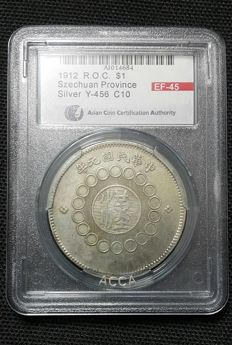 China (Sichuan) - 1 Dollar Sichuan Province, military government made (1912) - silver