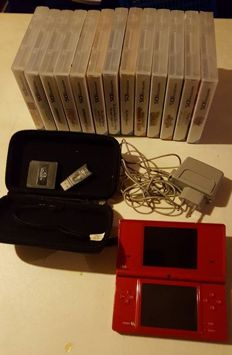 Nintendo DS red incl. 13 boxed DS games