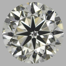 Round Brilliant 0.90ct  G VS2 3EX - EGL USA -Original Image 10X #528