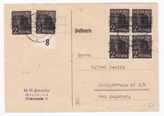 Allied Occupation Germany - Mutual issues 1940s - collection of approx. 65 letters on loose Safe sheets