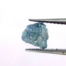 Natural Loose Diamond Raw Rough Natural Shape Blue Colour For ring - 6.3 x 6.0 x 5.0 mm - 1.18 ct
