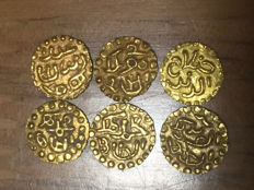 Indonesia - Lot of 6 Samudera Pasai - 1297/1513 - gold