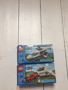 City Airline Duty Free Exclusives - 2 sets: 4442 & 4473 - Glider & Police Helicopter