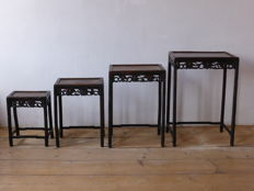 Nest Chinese side tables - antique - 19th Century