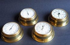 Junghans Germany-decorative brass nautical instruments.