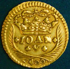 Portugal – Pinto in Gold – 1736 – João V – Lisbon – Above Average