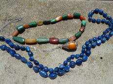 Lot of 3 necklaces made of beads from Africa