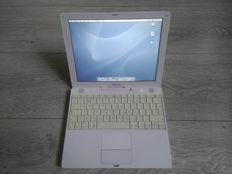 "Apple iBook G4 12"" - 800Mhz PowerPC G4, 1.12GB RAM, 30GB HDD - with original charger - model nr A1054 - Late 2005"