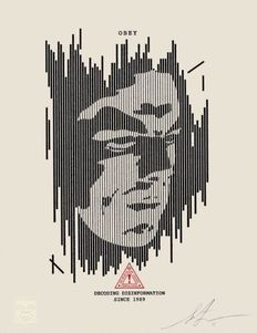 Shepard Fairey (OBEY) - Decoding Disinformation Leterpress