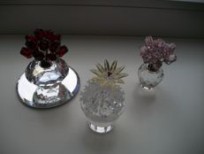 Swarovski - Anniversary Vase with 15 Red Roses - Pink Roses, a dozen - Cactus blooming.