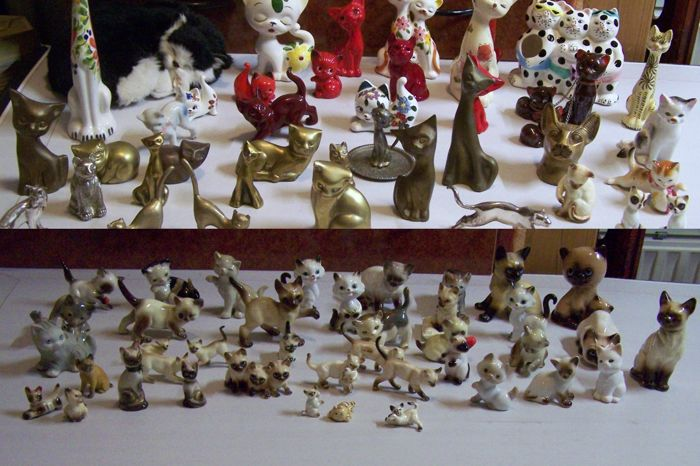 Big Lot Cat Figurines