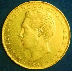 Portugal – 2,000 Réis in Gold – 1865 – Luís I – Lisbon