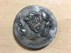 "Peugeot - Old paperweight in metal ""Original parts"""