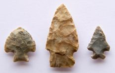 Lot of 3 arrowheads from the USA - 56 - 28 mm (3)