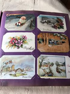 Album with 600 novelty cards theme Happy New Year France