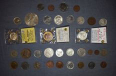 Italy, Kingdom – Lot of 34 coins, Vittorio Emanuele III (including silver)