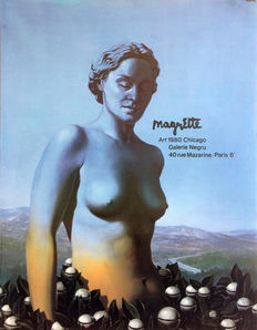 René Magritte - 3x Art 1980 Chicago - 1980