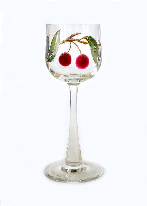 Probably Karl Palda, Haida or Ludwig Moser & Söhne, Karlsbad - Jugendstil wine glass