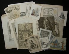 Various makers - Lot consisting of approx. 23 old prints-17th/18th/19th century.