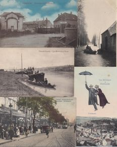 Belgium-140x-almost exclusively smaller towns-floods March 1906 Moerzeke 11 x-Also nice cards of Hofstade and Doel,