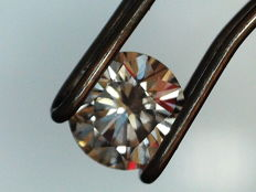 Diamond Very Light Pinkish Brown 0.31 ct I1 GIA