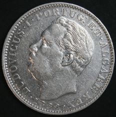 Portugal – 1 Rupia in Silver – Luís I – 1882 – Portuguese India – AG: 14.04 – Scarce in this Condition