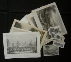 United Kingdom; various makers - Lot of 25 various prints - 18th/19th century.
