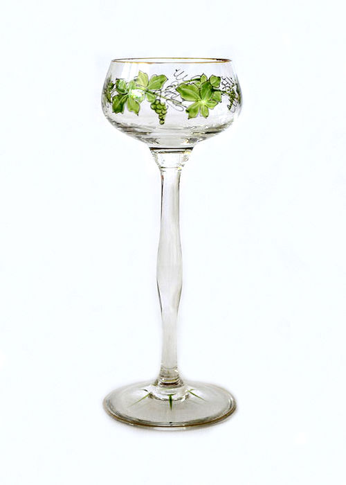 Theresienthaler crystal glass factory - Jugendstil wine glass