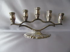 "Silver plated German Candle stand by ""Wilhelm Quist"""