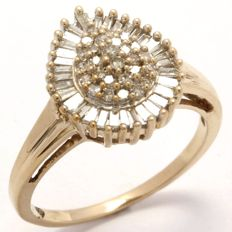 14 kt Yellow Gold 0.50 ct Diamond Ring  Size: 7.5
