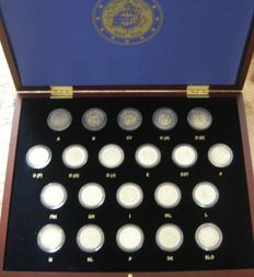 Europe - Complete series 2 Euro coins 2012 Ten Years Euro in a case (21 pieces)
