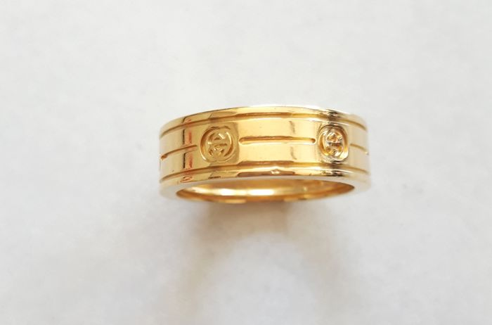 Gucci - 18 kt gold authentic ring - 17.5 mm