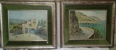 Tobia Scoppa (1945) Lot of two artworks: Fattoria - Sorrento