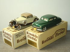 Brooklin Models - 1/43 Scale - Mercury 2 Door Coupe & Packard Light 8 Coupe - No: BKR 15 and BKR 6