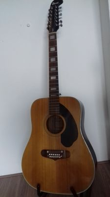 Nice Ibanez 647-12 Twelve string. Made in Japan 1971-1975 (pre serial) - with original vintage case!
