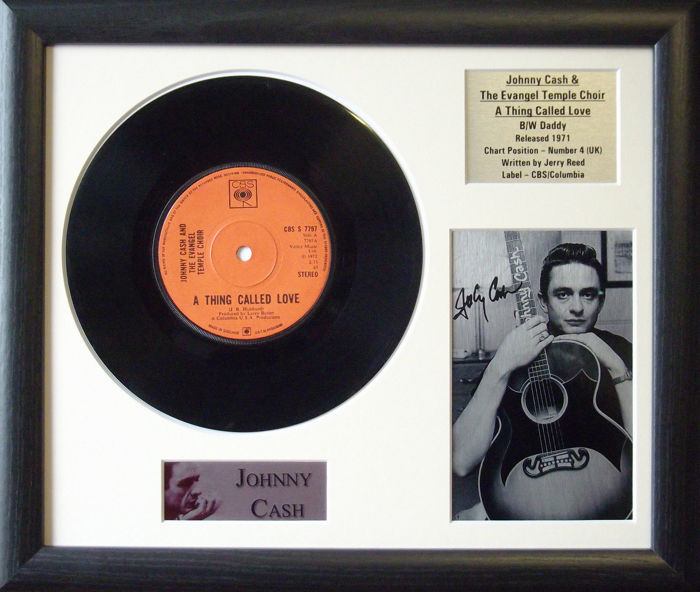Johnny Cash 'Thing Called Love' Genuine 7'' Vinyl Record Display