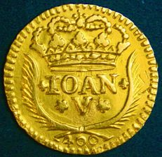 Portugal – Pinto in Gold – 1742 – João V – Lisbon – Above Average
