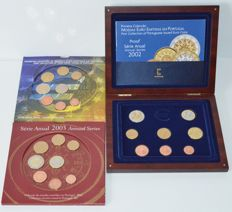 Portugal - Year collection 2002 Proof and 2002+2003 BU