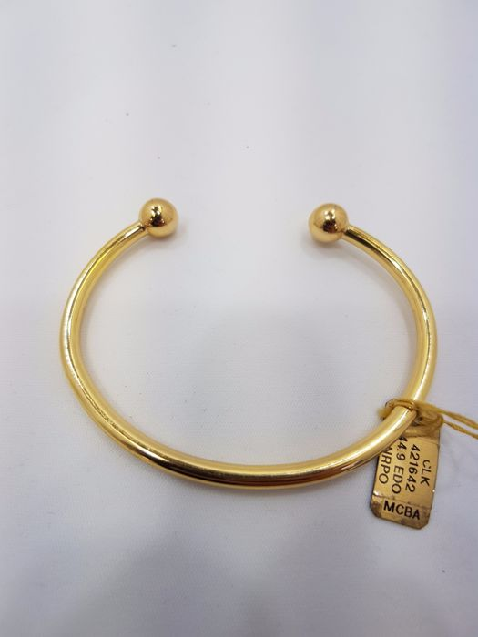 18ct Yellow Gold Gents Torq Bangle - Length Approx. 72mm