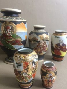 Collection of Japanese vases