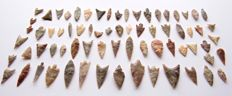 Lot with 70 Neolithic arrowheads - 11- 47 mm (70)
