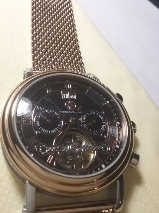 93d7508b6a6217 Constantin Durmont men's watch, Salinas, rose gold plated, 2016, like new.