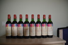 1970 Chateau Mouton Rothschild, Pauillac 2eme Grand Cru Classe - 8 bottles