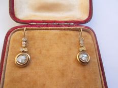 Early 19th Century Rose cut Diamond Earrings NO RESERVE PRICE