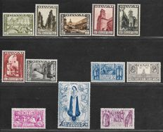 Belgium, 1933, large Orval, OBP 363-374